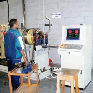 electric motor balancing machine