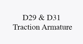 D29 & D31 traction Armature
